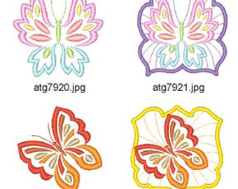 Butterflies-Butterflies  ( 20 Machine Embroidery Designs from ATW )