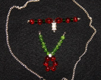 Convertible Christmas Necklace with 2 inserts