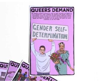 Small Print: Queers Demand Gender Self-Determination