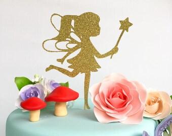 Fairy cake topper | Fairy decor | Fairy | Girls birthday | Glitter cake topper | Fairy party | Fairy topper | Garden party