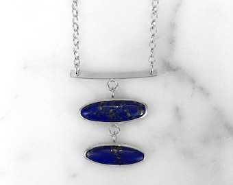 Tiered Lapis Lazuli Necklace