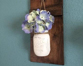 Wall Decor, Mason Jar applique, Mason Jar décor, décor de ferme, décoration rustique, Home Decor, applique murale, Mason Jar, décoration murale, bocaux Mason