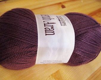 Clearance Incredibly Soft Wood Violet Cascade Cherub Aran Yarn 240 yards Acrylic Nylon Blend Color 57
