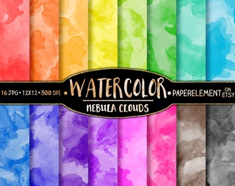 Watercolor Digital Paper: Watercolor Scrapbook Paper, Digital Watercolor Paper, Watercolor Background, Watercolor Printable Water Color Art