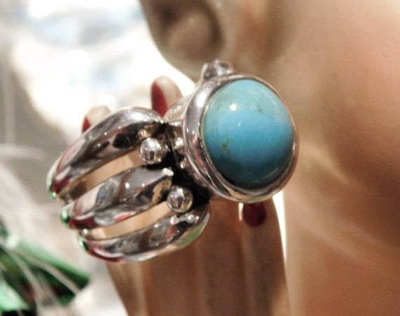 Turquoise Ring / BARSE / Sterling Silver
