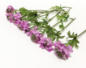 8 Small Bunches of Purple Lantana - Tiny Artificial Flowers, Silk Flowers, Flower Crown, Wedding