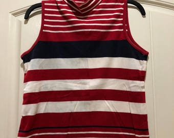 Vintage Red White and Blue Tank