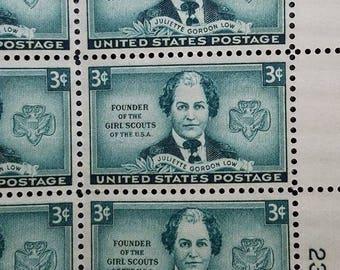 Juliette Gordon Low 50 3 Three Cent United States Postage Mint Sheet Stamps 1948