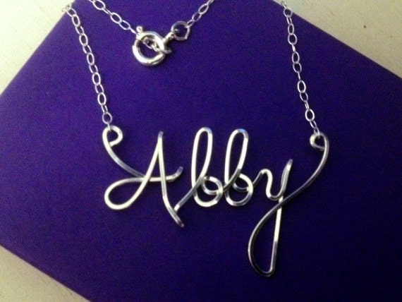 Draht Namen Halskette personalisierte Name personalisierte