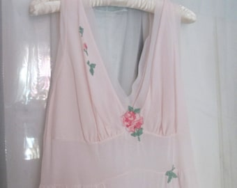pearl pink night gown