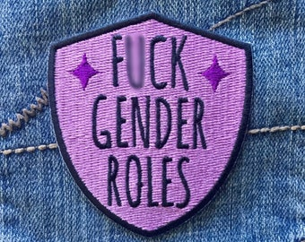 F*ck gender roles sticker patch / Feminist patch / Feminist embroidery