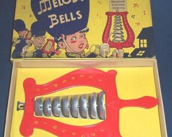 Vintage Sorort Melody Bells, in box