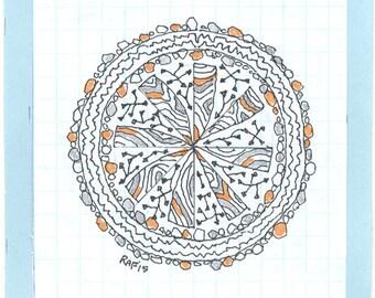 Zen Doodle Mandala Art #3