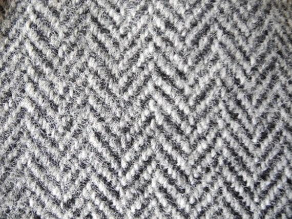 München Lining XL M Tweed Atelier Herringbone Torino Silver English Heavy Grey Jacket Vintage L aw54O