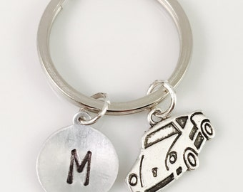 Personalized car keychain, New Driver Keychain, Car Keychain, personalized keychain, initial keychain, gift for him