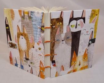Hand-sewn Cat Journal