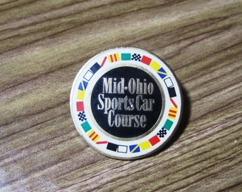 Vintage Mid-Ohio Sports Car Course Lapel Pin