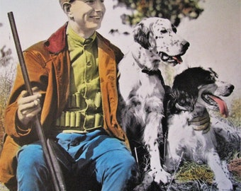 Hunting Buddies Hand Tinted Photo Print