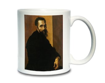 Coffee Mug; Michelangelo By Jacopino Del Conte (After 1535) At The Age Of 60