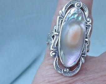 Blister Pearl  Shell Ring