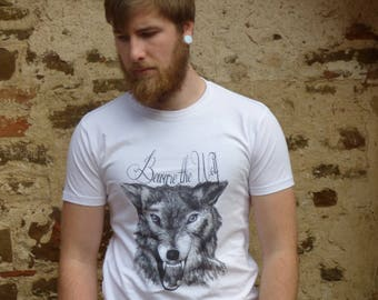 Snarling wolf White t-shirt