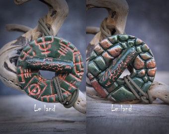 Double sided dread tie viking compass dreadlocks hair tie viking jewelry dread  holder for dreadlocks dread hair tie Dreadlock Accessories