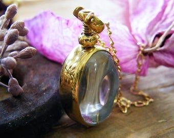 gold vertical oval memory glass locket photo locket heirloom keepsake necklace 14 karat gold fill small