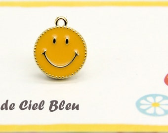 Smiley face pendant etsy smiley charm gold smiley face charm gold smiley face pendant orange enamel smiley face charm japanese charm gold smile face charm aloadofball Choice Image
