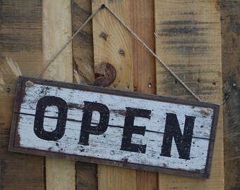Rustic Open and Closed Sign