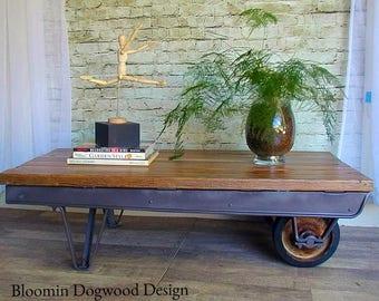 Re-purposed Industrial Coffee table