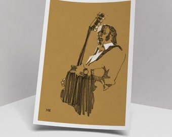 Stephen Stills art print, 210 x 297 mm
