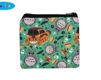 Coin Purse-Change Purse-Zip Bag-Zipper Bag-Change Wallet-Zip Bag-Coin Bag-Totoro Bag