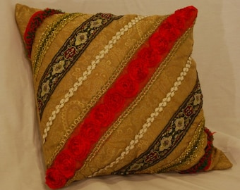 Gold Brocade Pillow