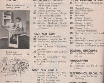BTS Popular Mechanics Magazine March 1973 Special: Motor Camping