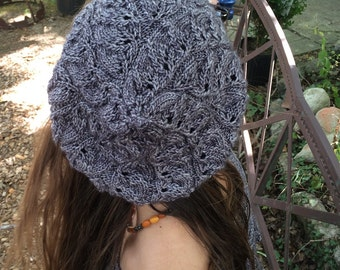 knitting pattern PDF download Embarrassment of Leaves Hat