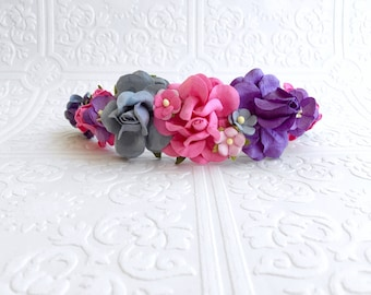The Purple, Pink, and Blue Goddess Floral Crown