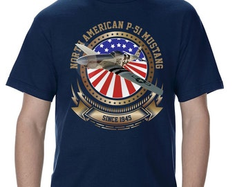 P-51 Mustang Stars and Stripes Men's T-Shirt