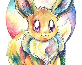 A3 Pokemon Print ~ Eevee (variant 3)
