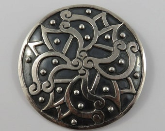 Sterling Silver Mexican Taxco-52 Brooch/Pendant