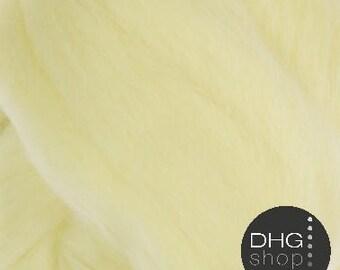 "Superfine merino, 19 microns,""Light"" soft yellow wool roving, sliver, tops"
