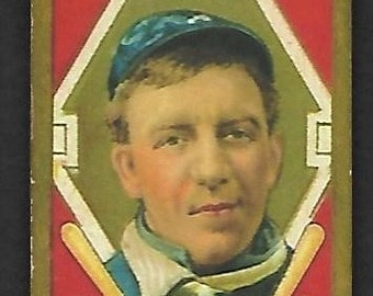new just in 1911 t205 gold border addie joss piedmont cigarettes back