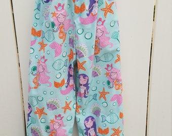Size 5/6 Blue Mermaids Flannel Sleep Lounge Pants