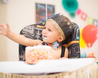 Jaden || black + gold || full size lace crown || Child-Adult ||custom sizes|| WASHABLE || Love Crush Exclusive