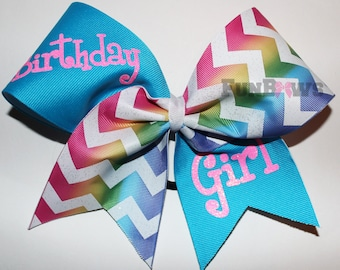 Birthday Girl Cheer Bow by FunBows !! - Super Fun !
