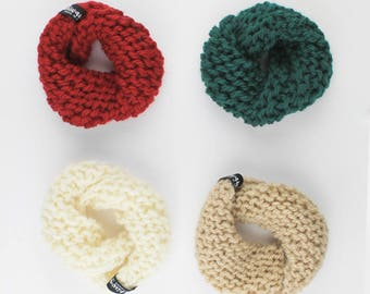 Dog scarf warm-neck merino wool in various colors scarf dog neck warmer