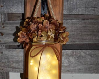 Mason Jar Wall Sconce Light