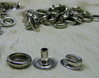 Line 24 Snaps Nickel Plated Pk of 50 for Leather or Fabric Long Post Marine Snap