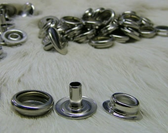 Line 24 Snaps Nickel Plated Pk 100 for leather or fabric