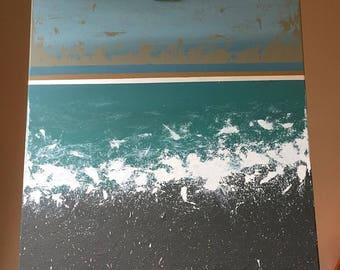 Seafoam|50x50 acrylic original painting-The Freak Boutique Art