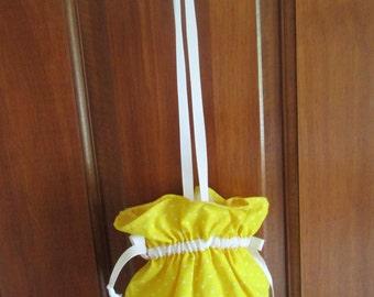 Vintage Cotton Drawstring Child Handbag